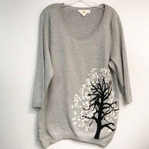HWR Monogram Anthropologie • Women's Sweater Sz XL